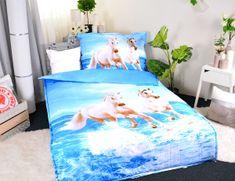 Aaryans Set přikrývka 140 x 200cm + polštář 70 x 90cm /3D Koně