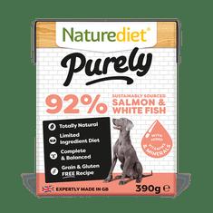 Naturediet Purely Salmon pseća hrana, losos, 390 g