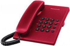 Panasonic KX-TS500FXR žični telefon, rdeč