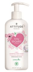 Interkontakt Dětské tělové mýdlo a šampon (2 v 1) ATTITUDE Baby leaves bez vůně 473 ml