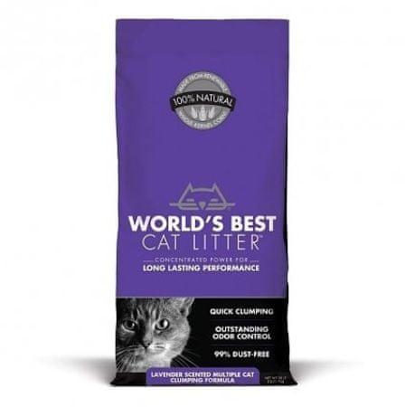 World's Best Lavender 6,35 kg csomósodó alom levendula illattal