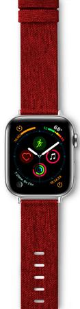 EPICO Canvas Band pašček za Apple Watch 42/44 mm, rdeč