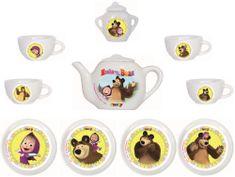 Smoby Porcelán kávéskészlet Mása és a Medve