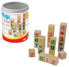 JOHN klocki drewniane z numerami