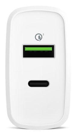 EPICO ładowarka 36W PD+QC, biały