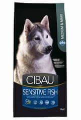 CIBAU Adult Sensitive Fish&Rice 12kg+2kg ZDARMA