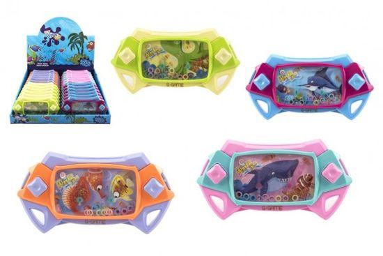 Teddies Vodní hra mořský svět plast hlavolam 17cm - mix barev