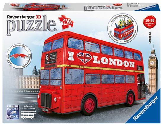 Ravensburger puzzle Londýnský autobus 216 dílků