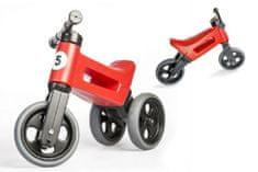 Teddies Odrážedlo FUNNY WHEELS Rider Sport červené 2v1, výška sedla 28/30cm nosnost 25kg 18m+