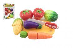 Teddies Zelenina krájecí plast s prkénkem 13,5x8cm s nožem v sáčku