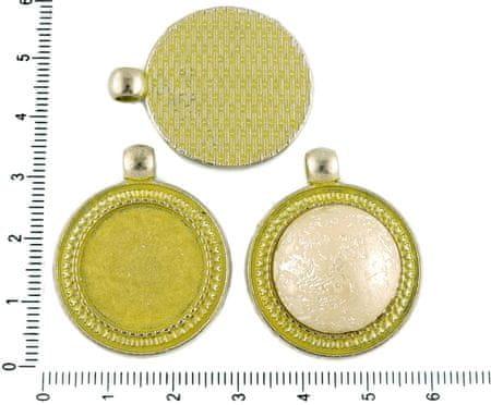 Kraftika 2szt korona żółta patyna antyczny srebrny odcień duży