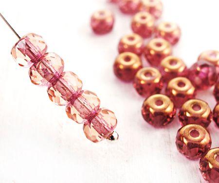 Kraftika 30db kristály rosaline rose rózsaszín bronz csillogás