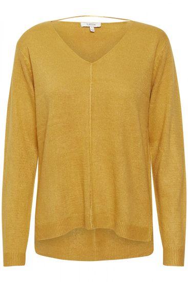 b.young dámský pulovr Malea 20806439 XS žlutá