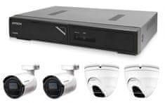 Avtech Kamerový set 1x NVR AVH1104, 2x 2Mpx IP Bullet kamera DGM2103SV a 2x 2Mpx IP Dome kamera DGM2203SVSE + 4x Kábel UTP 1x RJ45 - 1x RJ45 Cat5e 15m!