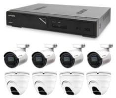 Avtech Komplet kamer 1x NVR AVH1109, 4x 2MPX IP Bullet kamera DGM2103SV in 4x 2MPX IP Dome kamera DGM2203SVSE + 8x UTP kabel 1x RJ45 - 1x RJ45 Cat5e 15m!