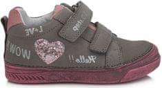 D-D-step egész évben viselhető cipő lányoknak 040-719B