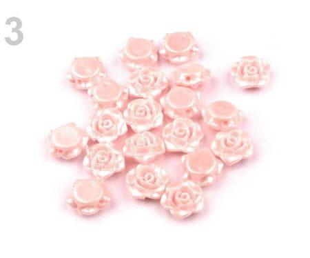 Kraftika 20szt 3 różowy muszelkowy plastikowe koraliki woskowane /
