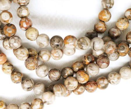 Kraftika 14 db barna ezüst kő maifanite természetes drágakő sima