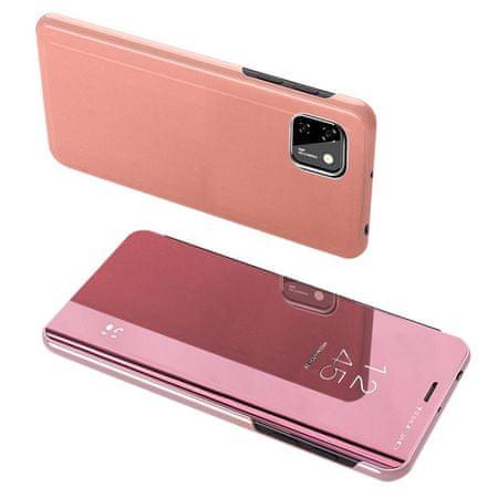 MG Clear View könyvtok Huawei Y5p, rózsaszín