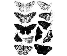 SMT Creatoys Motýlci - silikonová gelová razítka (12ks),