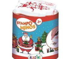 Aladine Vánoce - gumová razítka s pěnovkou sada (11ks) a