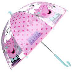 """Vadobag Automatický deštník transparentní """"Prasátko Peppa"""" - růžová"""