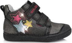 D-D-step dievčenská celoročná obuv s blikajúcimi kamienkami 049-990