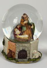 DUE ESSE Kula śnieżna z motywem Betlejem 14 cm