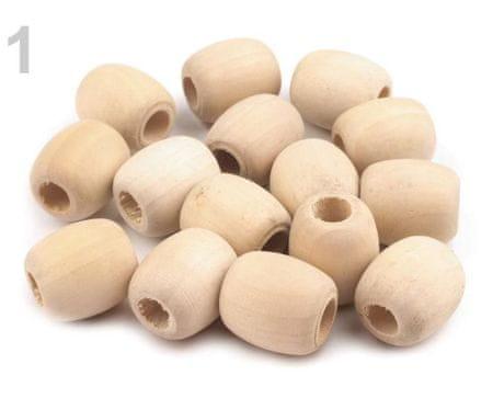 Kraftika 10pc nyírfa ovális befejezetlen természetes fa gyöngyök