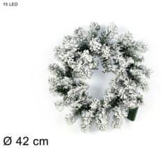 DUE ESSE Vánoční LED svítící věnec Ø 42 cm
