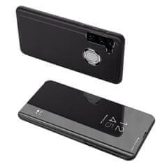 MG Clear View knížkové pouzdro na Samsung Galaxy A21s, černé