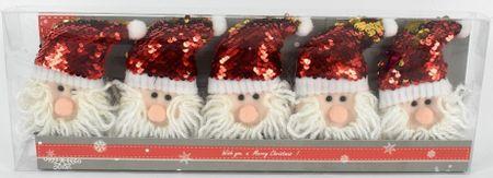 DUE ESSE komplet blistavi , sjajni Djed Božićnjak 2, 5 komada
