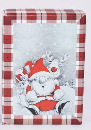 DUE ESSE Komplet 3 božičnih škatel, 3 velikosti severnih jelenov