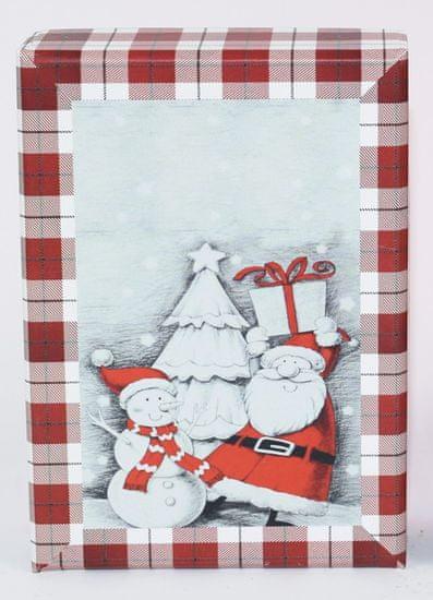 DUE ESSE Sada 3 ks vánočních krabiček, 3 velikosti sněhulák