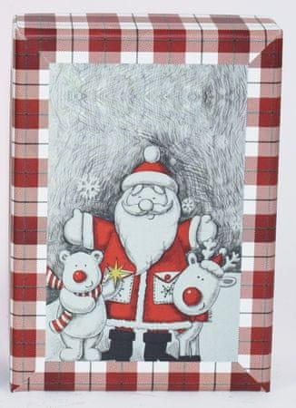 DUE ESSE Komplet 3 božičnih škatel, 3 velikosti Medved