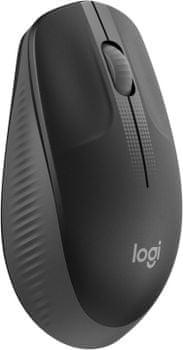 Kancelářská myš Logitech M190, tmavě šedá (910-005905) bezdrátová 1000 DPI komfort precizní senzor na cesty USB přijímač