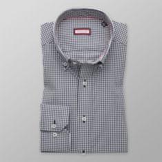 """Willsoor Pánská slim fit košile 8550 s kostkou """"gingham"""" a úpravou easy care"""