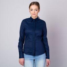 Willsoor Dámská košile s plisováním tmavě modrá 11346