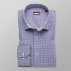 Willsoor Pánská slim fit košile 8426 v modré barvě s úpravou easy care