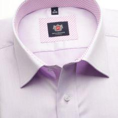 Willsoor Pánská slim fit košile London (výška 198-204) 6230 ve fialkové barvě s formulí 2W Plus