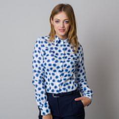 Willsoor Dámská košile s potiskem modrých puntíků 11919