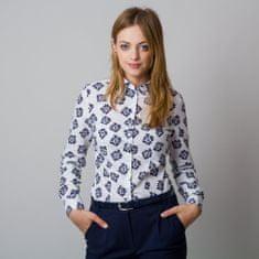 Willsoor Dámská košile s tmavě modrým květinovým vzorem 11921
