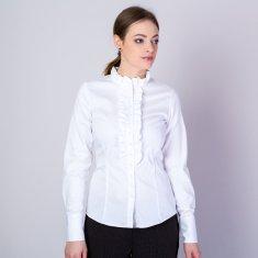 Willsoor Dámská košile bílé barvy s volánky 11616