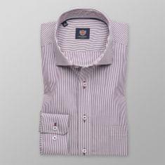 Willsoor Pánská slim fit košile London 8594 s barevnými proužky