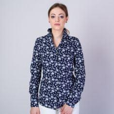 Willsoor Dámská košile s vysokým límečkem a květinovým vzorem 11704