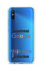 TopQ Kryt Xiaomi Redmi 9A silikón Google 51388