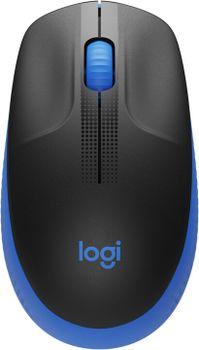 Kancelářská myš Logitech M190, modrá (910-005907) bezdrátová pravák levák ergonomie