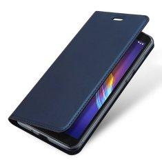 Dux Ducis Skin Pro knížkové kožené pouzdro na Motorola Moto E6 Play, modré