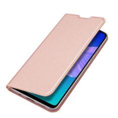 Dux Ducis Skin Pro knížkové kožené pouzdro na Huawei Y6p, růžové