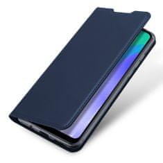 Dux Ducis Skin Pro knížkové kožené pouzdro na Huawei Y6p, modré